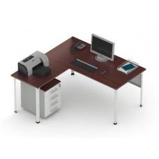 Стол П1 с Приставкой и Экраном (ширина 1600)